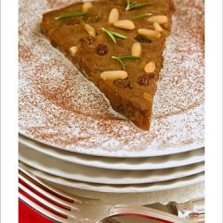 Photographic Print Of Castagnaccio, Pie Of Chestnut Flour With Raisins, Rosemary And Pine Nuts