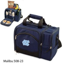 North Carolina Tar Heels - Unc Malibu Insulated Picnic Shoulder Pack/Bag - Navy W/Embroidery