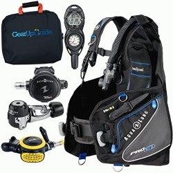 Aqua Lung Pro Hd Bcd Suunto Zoop Dive Computer Titan / Abs Regulator Set Gupg Reg Bag Scuba Diving Package Ml