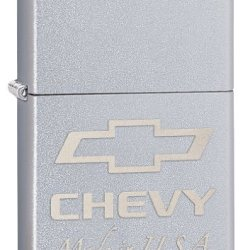 Zippo Chevy Pocket Lighter With Satin Chrome Finish