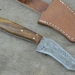 Christmas Gift By Leather-N-Dagger | Professional High Quality Custom Handmade Damascus Steel Tanto Hunting Knife (100% Satisfaction Guaranteed) Great Gift Ld178