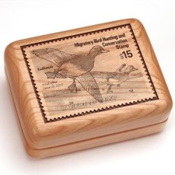 "3X4"" Box With Money Clip/Pocket Knife - Redhead Ducks Stamp"
