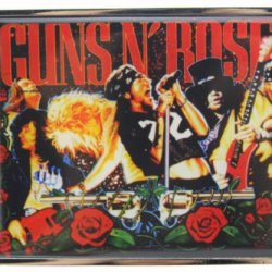 Hogar Zinic Alloy Music Belt Buckle Guns And Roses Buckles Color Multi-Color