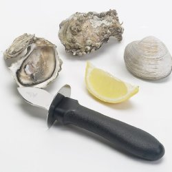Messermeister Stainless Steel Shellfish Opener And Knife