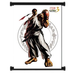 Marvel Vs Capcom 3 Ryu Game Fabric Wall Scroll Poster (32X42) Inches