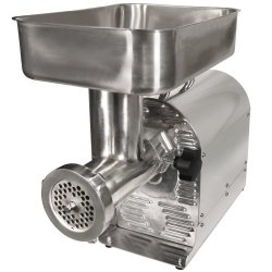 Weston 08-0801-W Number 8 Commercial Meat Grinder, 1/2 Hp