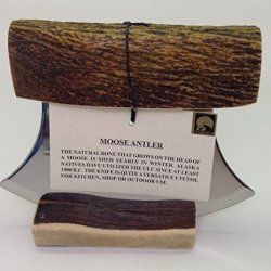 Made In Alaska Natural Moose Antler Ulu Knife