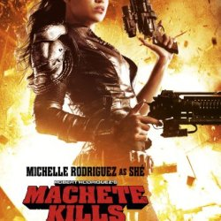 Machete Kills Movie Poster 2 Sided Original 27X40 Michelle Rodriguez