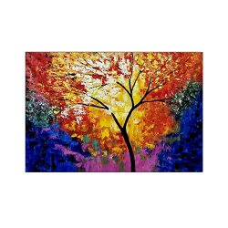 Malmo Handpainted Abstract Knife Painted Tree On Canvas For Room Decoration