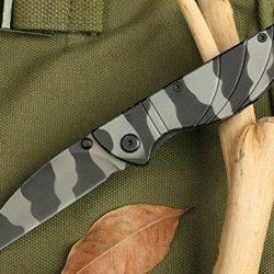 Full Tang Pocket Folding Camo Rescue Skinner Knife 5002-6.49''