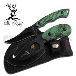 "Er-300Ca Elk Ridge Outdoor 4Quqwo Hunting Gxabsd7E9 Combo Set Ayeuiu56 Hlbv23Rt Outdoor Hunting Knife Combo Set, Gut Hook Skinner & Hunting Knife . Elk Ridge Combo Hunting Knife Set Features:6 1/2"" Overall Gut Hook Skinner Hunting Knife7"" Overall Hunting"