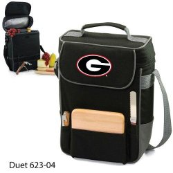 Ncaa Georgia Bulldogs Duet Insulated Wine And Cheese Tote With Team Logo