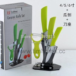 Factory Outlet Yangjiang Five-Piece Ceramic Knife Ceramic Knife Ceramic Knife Melon 4/5/6 Inch Planer Block Set