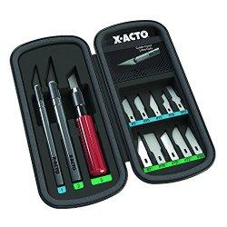 X-Acto X5285 13 Blades In Zippered Storage Case, Black