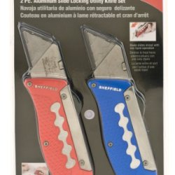 Sheffield 58133 2-Piece Speed Slide Utility Knife Set