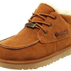 Rock Me Men'S Thicken Warm Ankle Snow Boot(Chestnut,9.5)