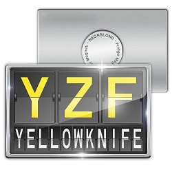 Fridge Magnet Yzf Airport Code For Yellowknife - Neonblond