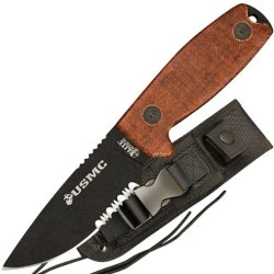 Elite Tactical M-1022Tn Us Marines Fixed Blade Knife, 8-Inch Overall Length