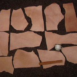 Leather Side Veg Vegetable Tan Split Pieces Light Weight; 2 Lbs, 9 Square Feet
