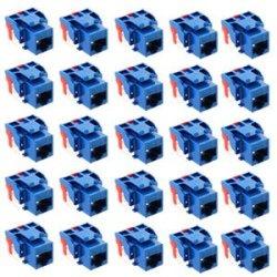Ic107L6Cbl - 25Pk Cat6 Jack - Blue Ic107L6Cbl - 25Pk Cat6 Jack - Blue