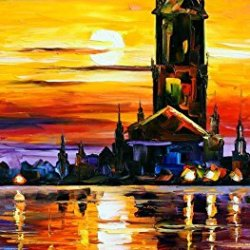 Modern Knife Paintng Painting Sunshine On The Sea Wall Decor Superb Paintings On Canvas 20X40In/50X100Cm Unframed