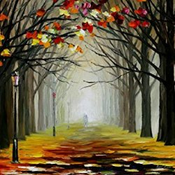 Original Painting Almost Winter Painting Contemporary Artwork Knife Painting Oil Painting Wall Art Canvas Unframed Painting 24 X 24 In 60 X 60 Cm