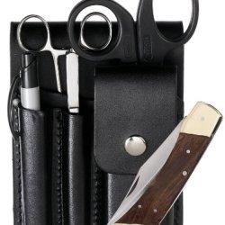 Prestige Medical Square Paddle Leather Holster Set
