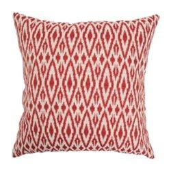 The Pillow Collection Hafoca Ikat Pillow, Hot Pepper