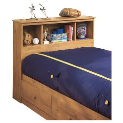 South Shore Little Treasures Twin Bookcase Headboard Pine