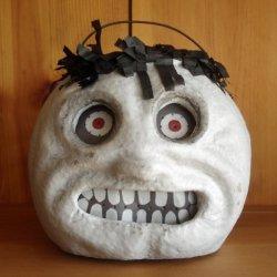 Halloween Decorations - Lighted Skeleton Head Lantern - Lighted Skull Container - Skeleton