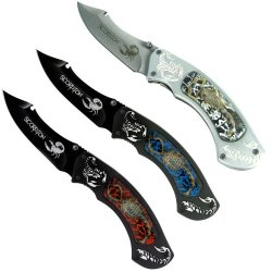 Whetstone Scorpion Hunter Pocket Knives,  Set Of 3
