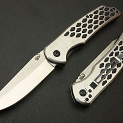Silver Rescue Assisted Glass Breaker Folding Pocket Hollow Knife 339-8.07''