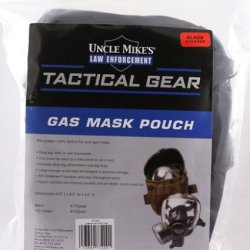 Uncle Mike'S Molle Compatable Gas Mask Pouch, Black