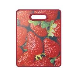 Farberware Non-Slip Image Cutting Board, 11 By 14-Inch, Red
