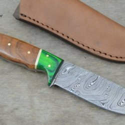 Huge Sale By Leather-N-Dagger | Professional High Quality Custom Handmade Damascus Steel Hunting Knife (100% Satisfaction Guaranteed) Great Gift Ld160
