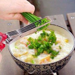 Stainless Steel Kitchen Knives 5 Layer Scissors Sushi Shredded Scallion Cut Herb Scissors Spices Scissors