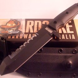 Hardcore Hardware Australia Muk01-G Tactical Eod & Dive Knife Black G-10