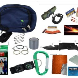 "Vas Emergency Survival Essentials Pack #283 12 Pc Pack - Survival, Bug Out & Disaster With ""Mini Bob"", Fire Starter, Flashlights, Uco Stormproof Matches & More"