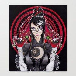 Society6 - Bayonetta Stretched Canvas By Samanfuu