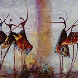 Original Painting Oil Painting Modern Art Canvas Art Ballet Dancer Painting Impasto Texture Palette Knife Impressionism Wall Art Fine Art