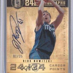 Dirk Nowitzki #1/25 Dallas Mavericks (Basketball Card) 2011-12 Panini Gold Standard 24K Autographs #7