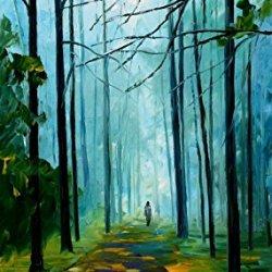 Summer Forest Modern Canvas Art Wall Decor Palette Knife Oil Painting Wall Art 20 X 36 In Unframed