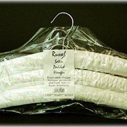 Set Of 3 Ivory Colour Satin Hangers