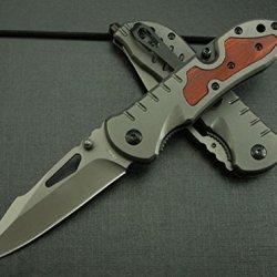 All Black Full Tang Pocket Folding Skinner Knifeda-49 -8.26''
