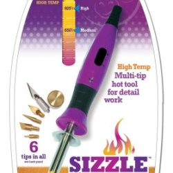 Purple Cows 5000 Sizzle Craft Iron, Dual Temperature, 6 Tips, Purple