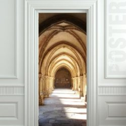 "Wall Door Sticker Hogwarts Corridor, Harry Potter, Hall, , Mural, Decole, Film 30X79"" (77X200 Cm)"