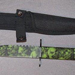New Zombie Skull Camo Survival Knife Zmb1222Gn