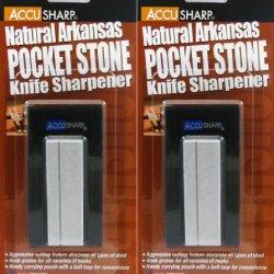 Accusharp Natural Arkansas Pocket Stone 024 Knife Sharpener 2 Pack