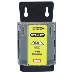 """Stanley-Bostitch 100 Heavy Duty Utility Blades - 2.44"""" - Wall Mountable - Carbon Steel - 1 Pack - Silver"""