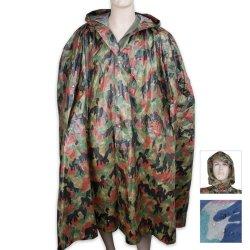 Budk Military Surplus Swiss Camo Wet Weather Poncho